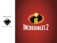 inkscape tutorial: making incredibles 2 logo