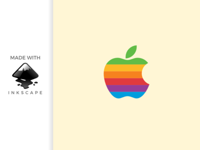 inkscape tutorial: making apple rainbow logo
