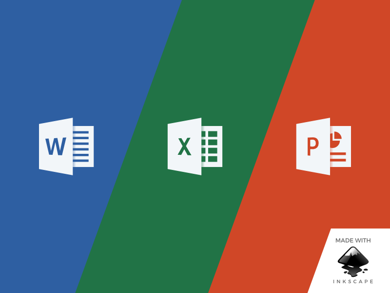 inkscape tutorial: making microsoft office icons by