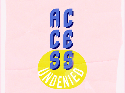 Access Undenied illustration art typography