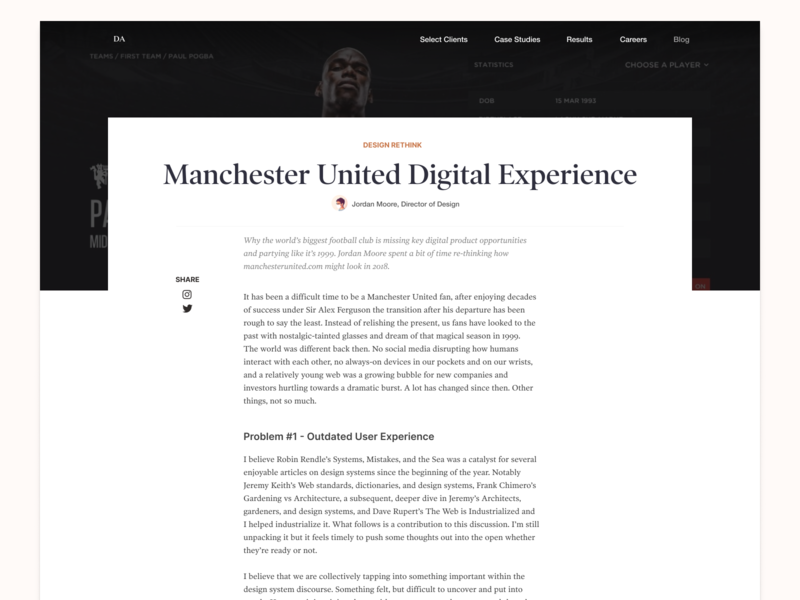 Dawson Andrews Blog article blog design