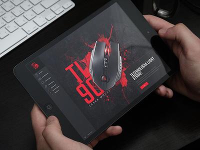 Bloody website design by CHALLENGE