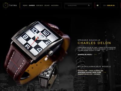 Tayma layout tamya clock watch shop online shop dawidskinder dawid skinder dawidskinder.com ecommerce web design