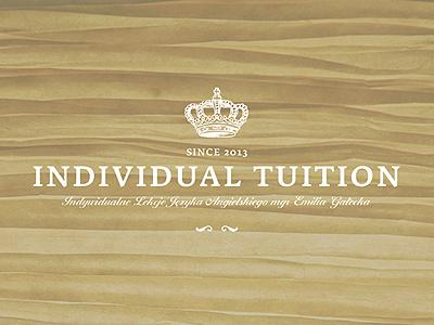 Individual Tuition - Logo individual tuition challenge studio challenge poland zabrze dawidskinder dawid skinder logo branding studio english learning