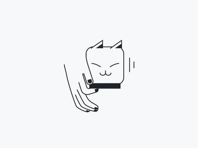 prrr vector icon fingers touch tender soft pleasure satisfaction tease purr cat