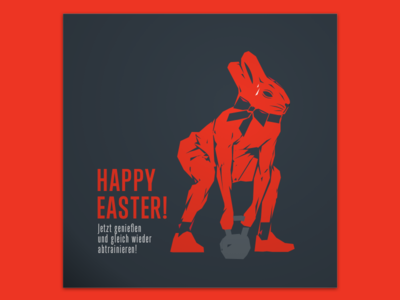 Eat your bunny and then get back to training!