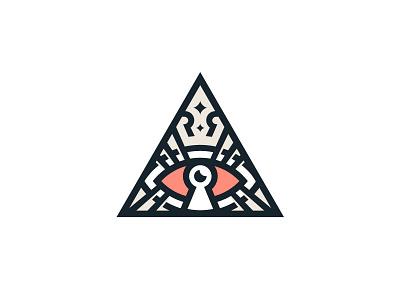 Logo for Roza Ray triangle lock key vison visionary mark logodesign star eye design branding brand logos logotype logo