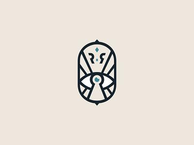 Logo for Roza Ray monogram r letter design star eye mark logodesign branding brand logos logotype logo
