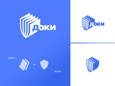 Doki shield cloud memory storage paper design armenian mark logodesign branding brand logotype logo