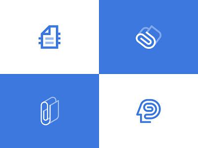 Document app logos app clever brain head clip tech docs documents document ai memory storage paper mark logodesign logos branding brand logotype logo