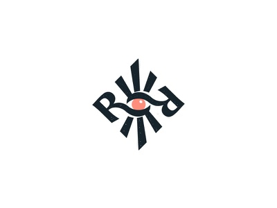 Logo for Roza Ray mystic myst tarot psychology sun shine monogram rr eye design logodesign logos brand branding logotype logo