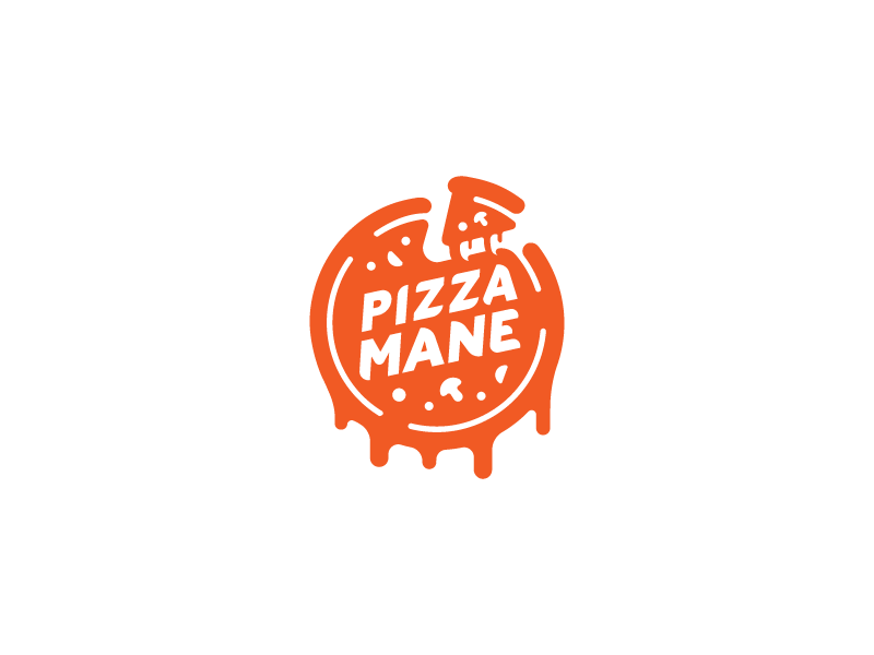 Pizza Mane logotype logo food pizza
