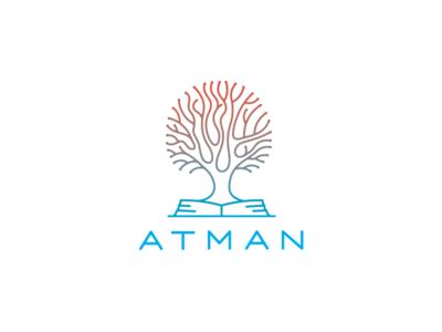 Atman mind reading logo logotype tree olqinian armenia armenian book psichology bio read