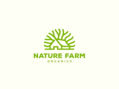 Nature Farm Organics leaf house tree organic nature farm organics logo olqinian food spices