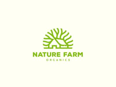 Nature Farm Organics leaf house tree organic nature farm organics logo olqinian food spices