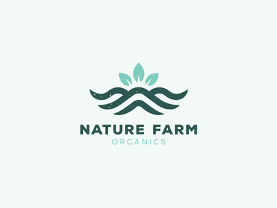 Nature Farm Organics 2.0 mountain logotype logos leaf tree spices food organic logo organics farm nature