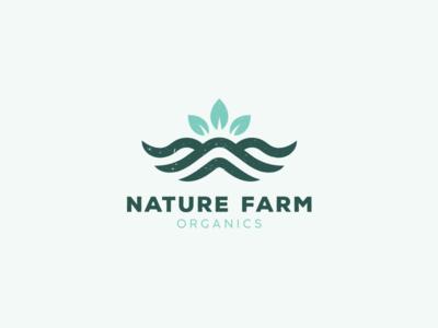 Nature Farm Organics 2.0 mountain logotype logos leaf tree spices food organic logo organics farm nature