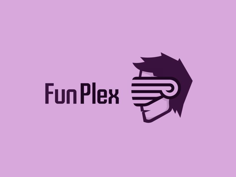 Funplex mark bison olqinian sen armenia virtualreality vr gameshow logo design logotype games game logo character