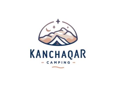 Kanchaqar night star campzone armenia olqinian sen logodesign logotype logo lettering tent mountains camping