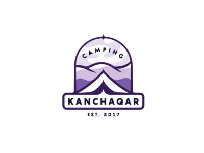 Kanchaqar Camping logo 2d emlem adventure armenia hiking climbing travel mountains logotype artwork creative logoideas logo logodesign