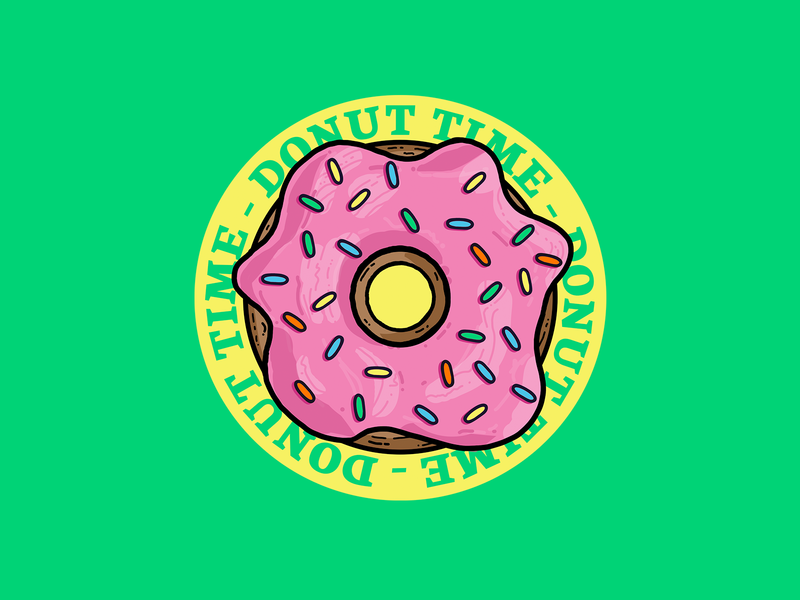 Dilla Donuts jdilla donuts sugar sweet donut illustration