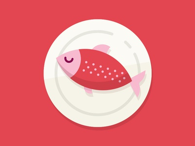 Fishy zzz zzz sleep dish dinner salmon pink google fish