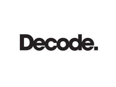 Logo design - Decode Records identity logo type circles music logo design branding