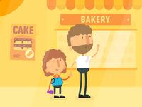 Bakery scene