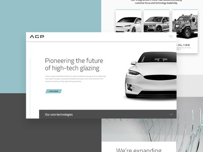 AGP - Branding glass grey teal website branding