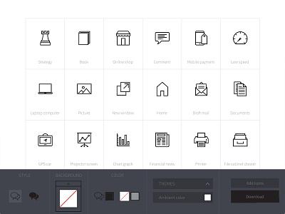 Icon customization app svg vector minimal custom customization app builder icons icon