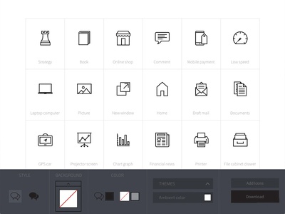 Icon customization app svg vector minimal custom customization app builder icons icon