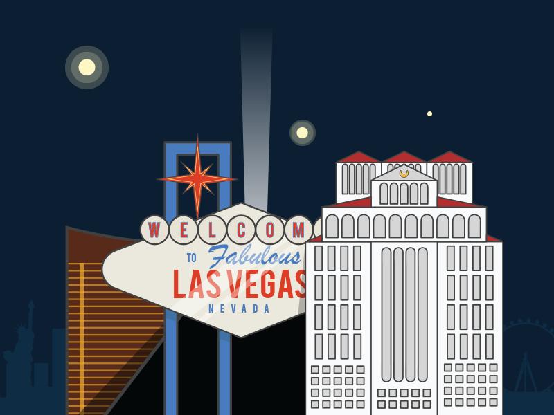 Mini Las Vegas >> Mini Las Vegas Skyline By Rachel Noyes For Mm Brand Agency On Dribbble