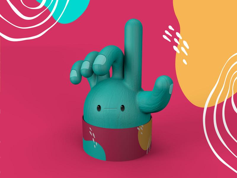 the Handsome Hand character design c4d illustration cinema 4d