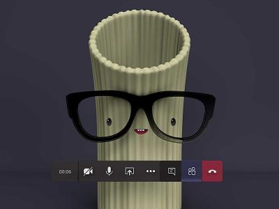 Noodle Head teams microsoft character design c4d cinema 4d