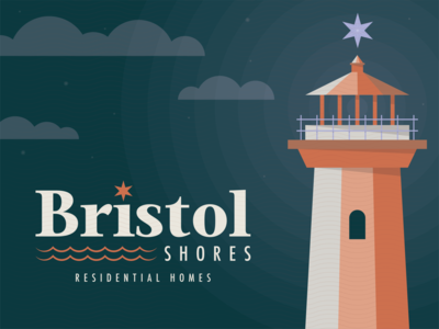 Bristol Shores Residential Homes Pt. 1 residential residential homes star lighthouse type design illustration mn symbol typography branding icon mark logo