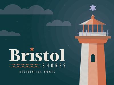 Bristol Shores Residential Homes Pt. 1 residential residential homes star lighthouse type design illustration mn symbol typography branding icon mark logo