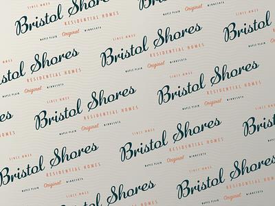 Bristol Shores Residential Homes Pt. 2 waves midcentury residential homes bristol shores residential branding type mn symbol letter typography icon mark logo