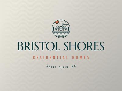 Bristol Shores Residential Homes Pt. 3 tree crest design mn brand residential home house symbol letter typography icon mark branding logo