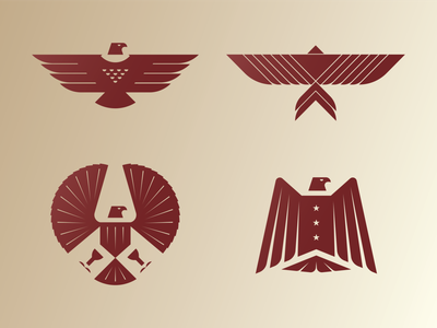Eagle Marks wings star gradient vector illustration bird america design letter mark icon symbol branding logo