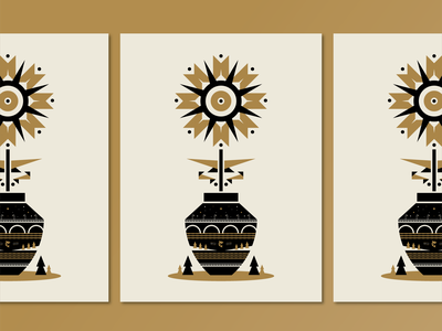 Posters for Parks 2020 | Stone & Vase posters for parks mississippi river nature screenprint black gold pine tree fish 2020 branding stone arch bridge mn minnesota minneapolis bridge flower vase poster illustraion