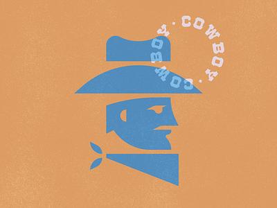 Cowboy Dude illustration mark logo geometric design hats cowboy hat face branding cowboy