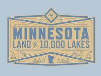 Minnesota Land of 10,000 Lakes