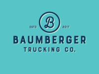 Baumberger Trucking Company Logo