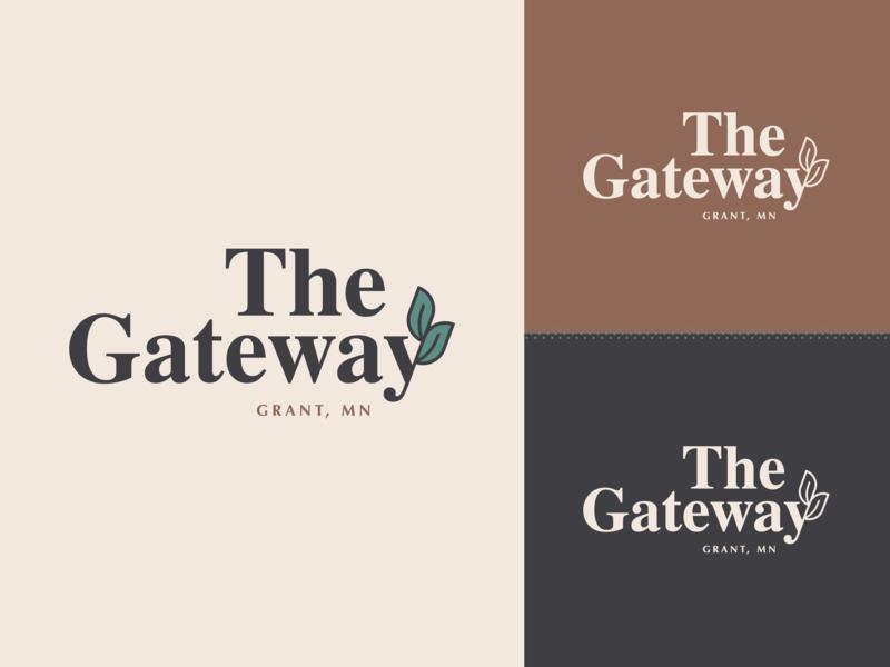 The Gateway Logo Option 2.2 residential branding design illustration type mn grant gateway leaf symbol typography letter icon logo mark