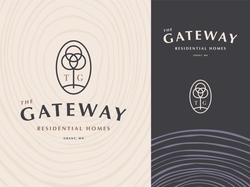 The Gateway Logo Option 4.2 vector gateway home residential grant key tree branding design type mn letter typography icon logo mark