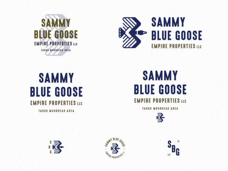 Sammy Blue Goose Empire WIP retro blue moorhead fargo mn property duck goose vector branding symbol letter typography icon logo mark