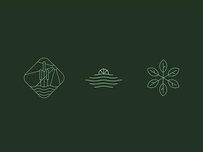 Mill Pond Mark Options design water blaine minimalistic cattail sun green leaf windmill pond mill branding symbol mn icon mark logo