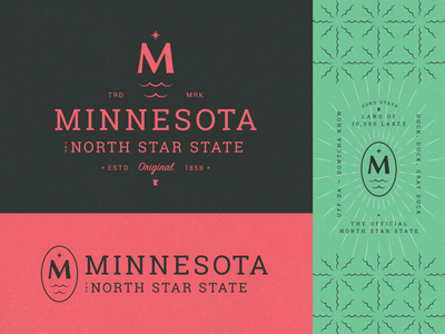 Minnesota The North Star State Pt. 1 brand design m minnesota north star design minneapolis branding symbol mn typography letter icon mark logo