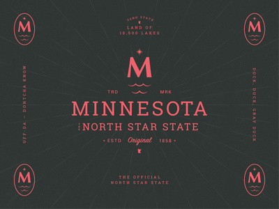 Minnesota The North Star State Pt. 2 brand identity brand design lockup north star minnesota type branding symbol mn typography letter icon mark logo
