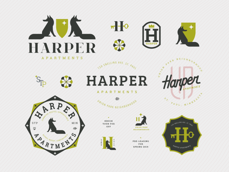 Harper Apartments Logo Concepts